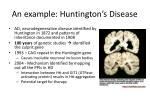 an example huntington s disease