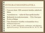 integratsioonipoliitika