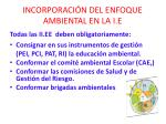 incorporaci n del enfoque ambiental en la i e