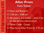 after prom kate sieber