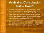 arrival at constitution hall cont d