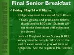 final senior breakfast