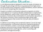 continuation education