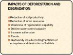 impacts of deforestation and degradation