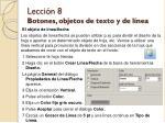 lecci n 8 botones objetos de texto y de l nea12
