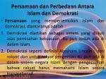persamaan dan perbedaan antara islam dan demokrasi