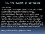 how the budget is developed