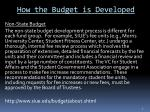 how the budget is developed1