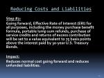 reducing costs and liabilities1