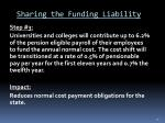 sharing the funding liability