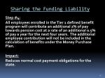 sharing the funding liability1