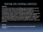 sharing the funding liability2