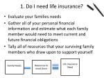 1 do i need life insurance
