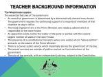 teacher background information
