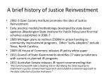 a brief history of justice reinvestment