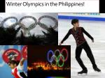 winter olympics in the philippines