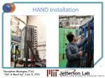 hand installation