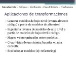 aplicaciones de transformaciones