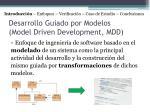 desarrollo guiado por modelos model driven development mdd
