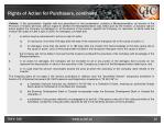 rights of action for purchasers continued