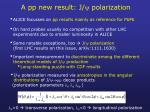 a pp new result j polarization