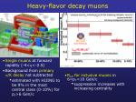 heavy flavor decay muons
