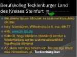 berufskolleg tecklenburger land des kreises steinfurt
