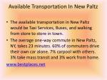 available transportation in new paltz