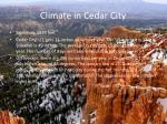 climate in cedar city