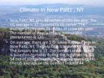 climate in new paltz ny