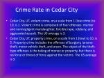 crime rate in cedar city