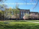types of job available in new paltz