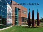 types of jobs available in cedar city