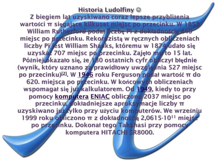 Historia Ludolfiny