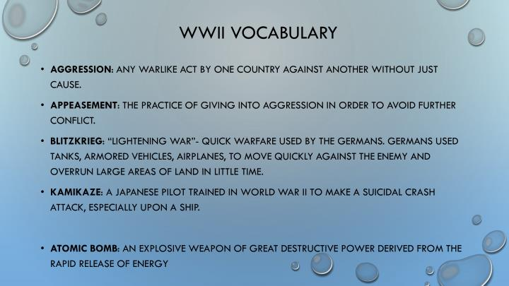 wwii vocabulary n.