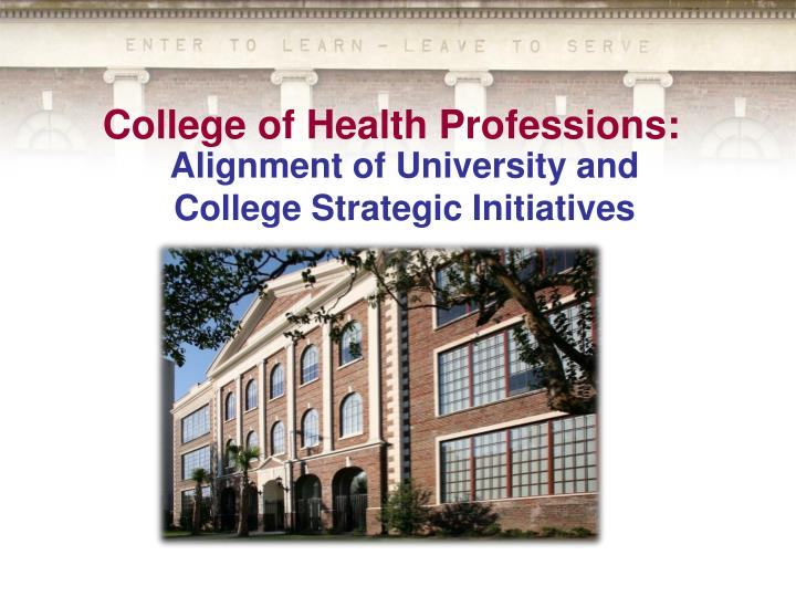 college of health professions n.
