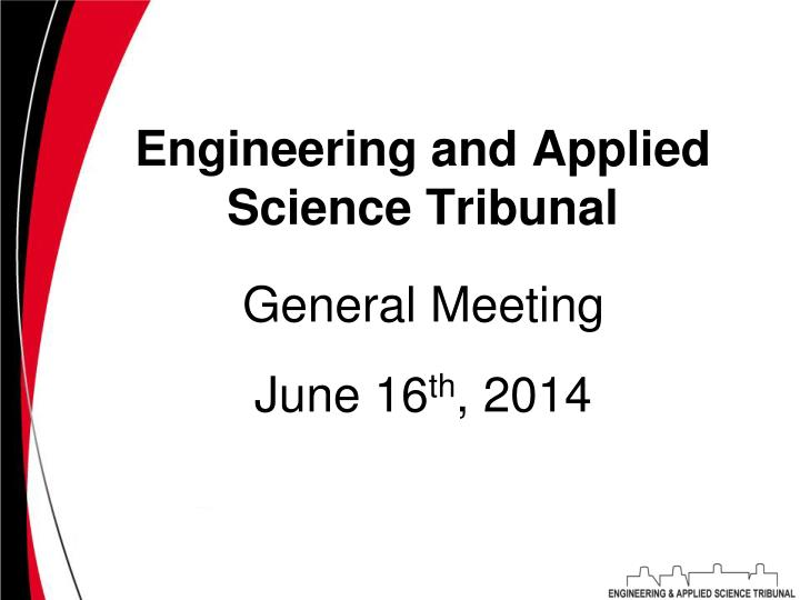 engineering and applied science tribunal n.