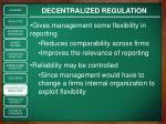 decentralized regulation