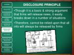 disclosure principle