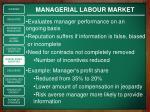 managerial labour market