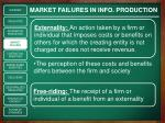 market failures in info production