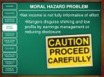 moral hazard problem