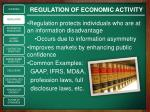 regulation of economic activity