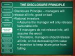 the disclosure principle