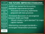 the future improved standards