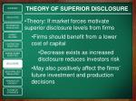 theory of superior disclosure