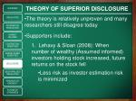 theory of superior disclosure1