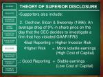 theory of superior disclosure2
