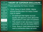 theory of superior disclosure3