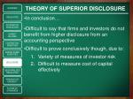 theory of superior disclosure4